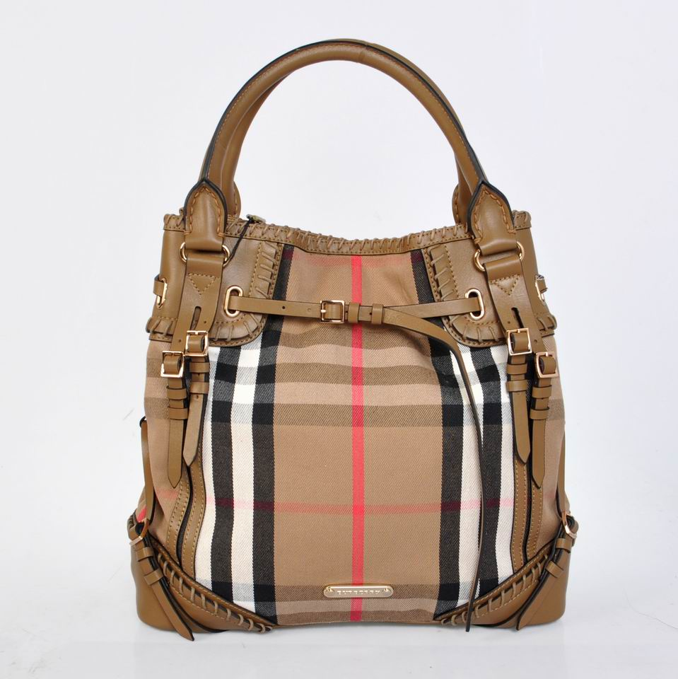 Burberry Outlet Tote Bag Khaqi Model068