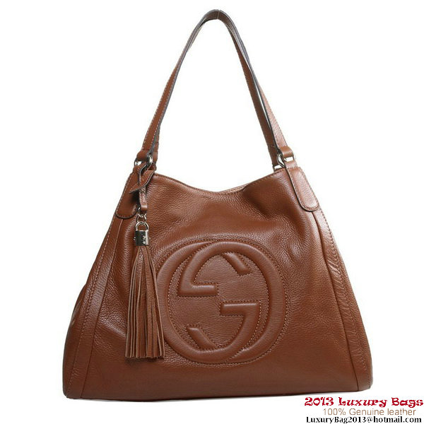 Gucci Medium Soho Shoulder Bag 282309 Brown