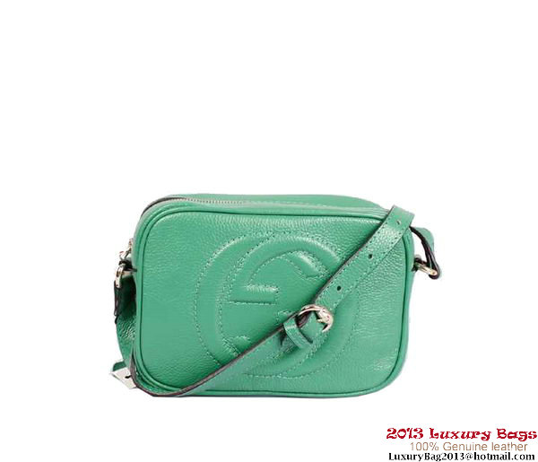 Gucci Soho Calfskin Leather Disco Bag 308364 Dark Green