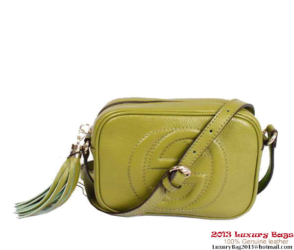 Gucci Soho Calfskin Leather Disco Bag 308364 Green
