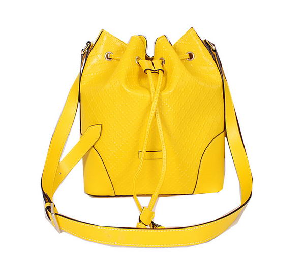 Gucci Bright Diamante Leather Bucket Bag 354228 Yellow