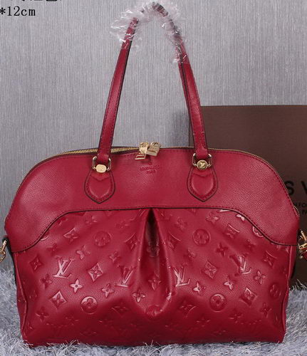 Louis Vuitton Litchi Leather Toto Bag M41399 Burgundy