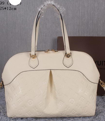 Louis Vuitton Litchi Leather Toto Bag M41399 White