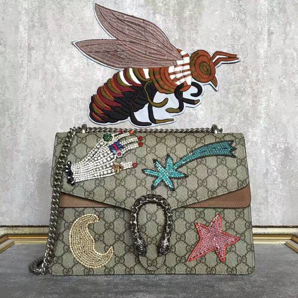Gucci Dionysus GG Supreme Canvas Shoulder Bag 4003348 Brown