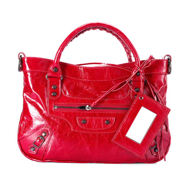 Balenciaga Town Handbag Red