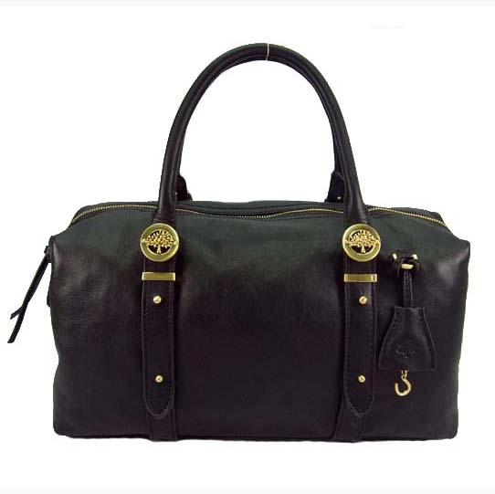 Mulberry Drew Clipper Holdalls Bag Soft Buffalo Leather Black