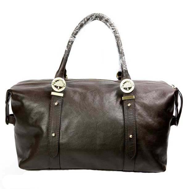 Mulberry Drew Clipper Holdalls Bag Soft Buffalo Leather Chocolate