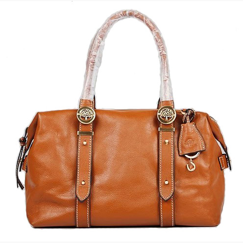 Mulberry Drew Clipper Holdalls Bag Soft Buffalo Leather Oak