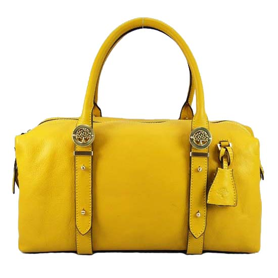 Mulberry Drew Clipper Holdalls Bag Soft Buffalo Leather Yellow
