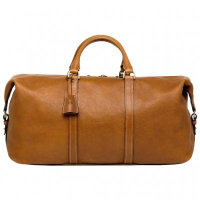 Mulberry Small Clipper Holdalls Bag Natural Leather Oak