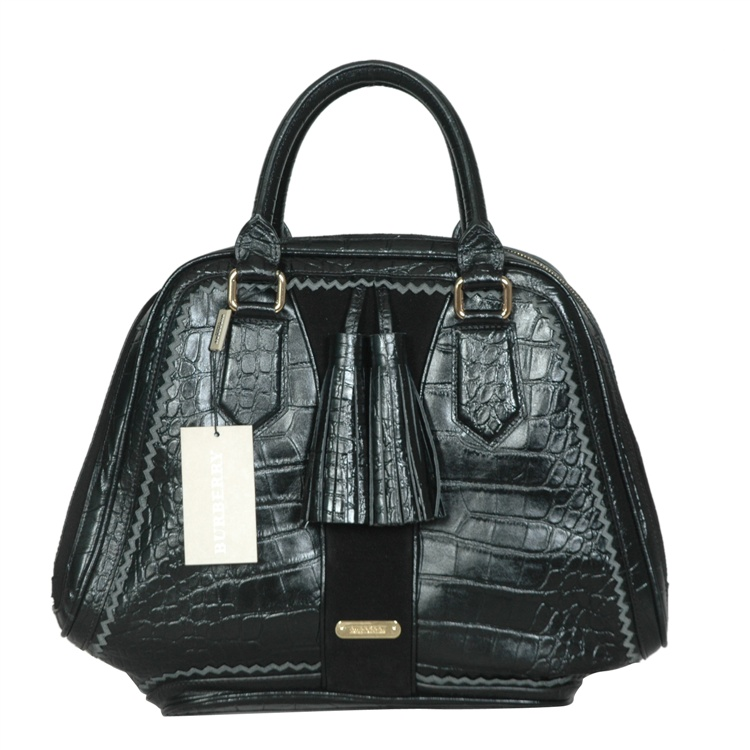Burberry Outlet Bowling Large Bag Black Model011
