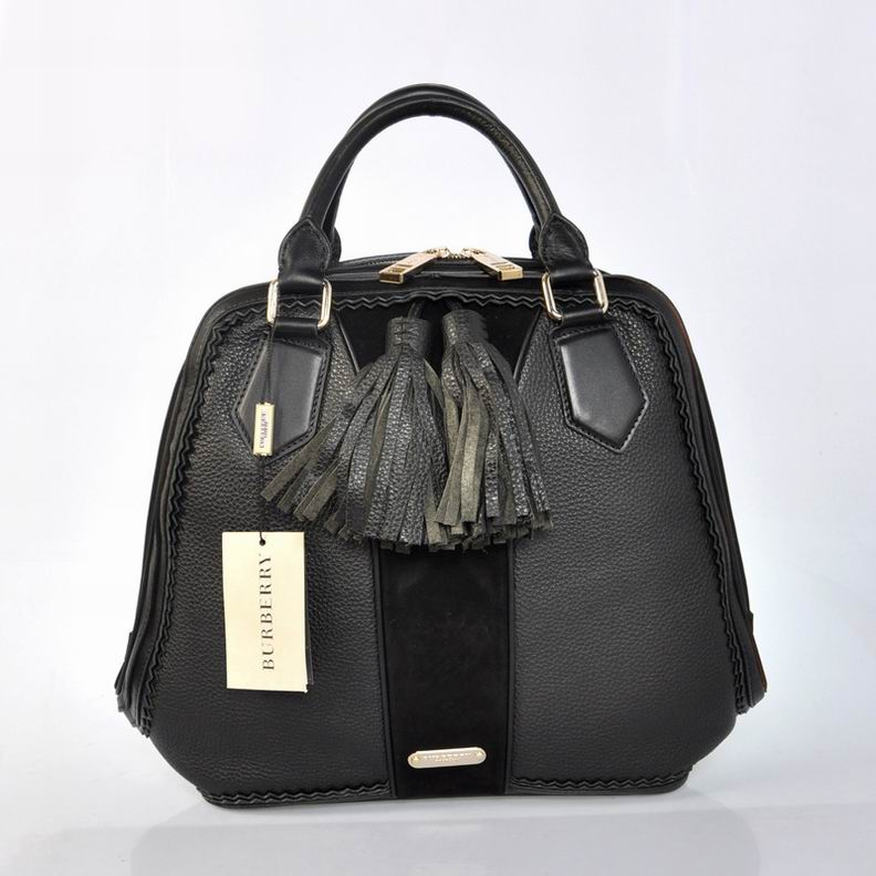 Burberry Outlet Bowling Large Bag Black Model006