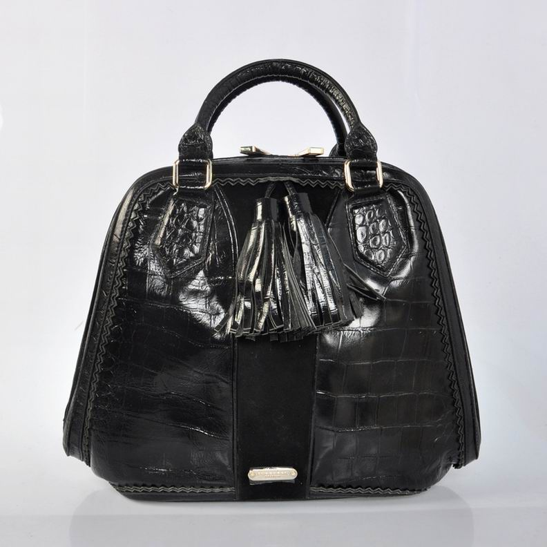 Burberry Outlet Bowling Large Bag Black Model008