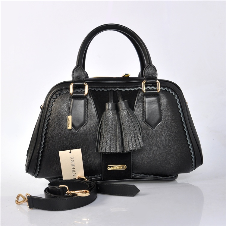 Burberry Outlet Bowling Medium Bag Black Model011