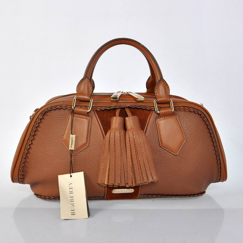 Burberry Outlet Bowling Small Bag Coffee Model001