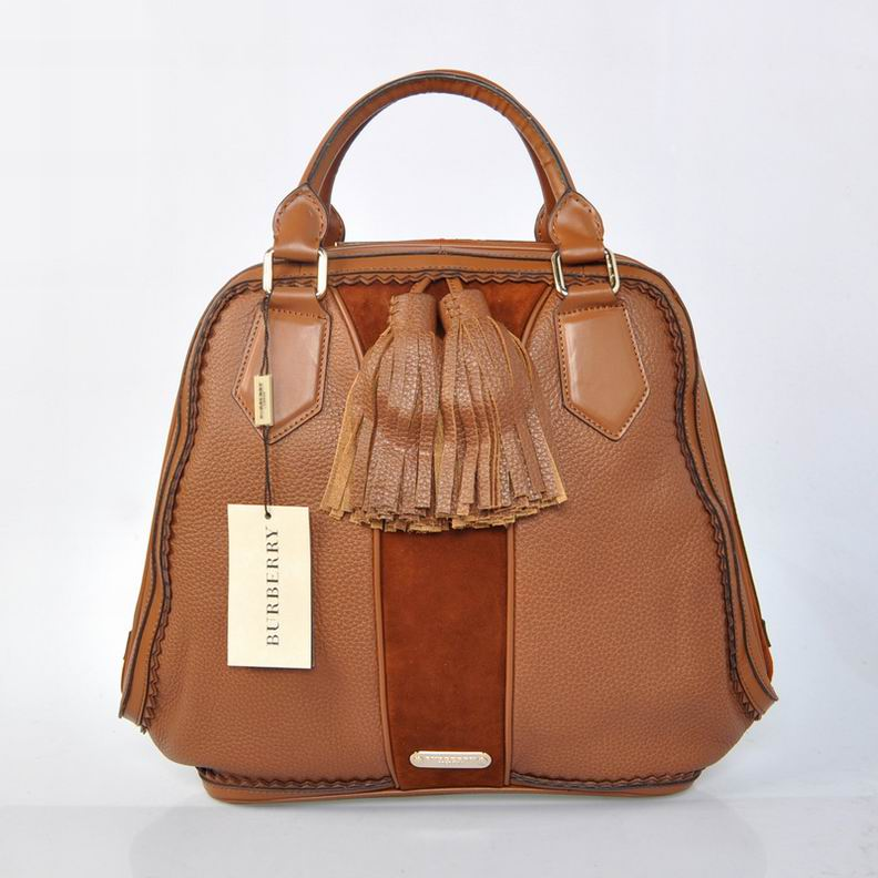 Burberry Outlet Bowling Large Bag Coffee Model006
