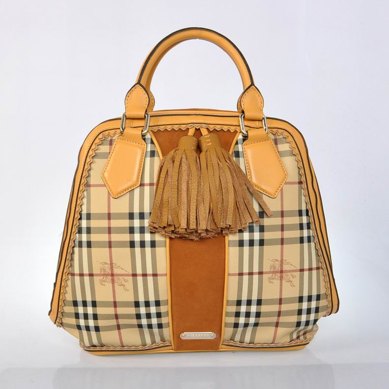 Burberry Outlet Bowling Large Bag Khaki Model007