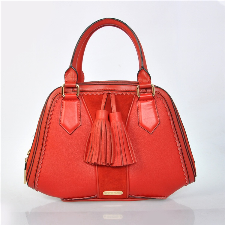 Burberry Outlet Bowling Large Bag Red Model009