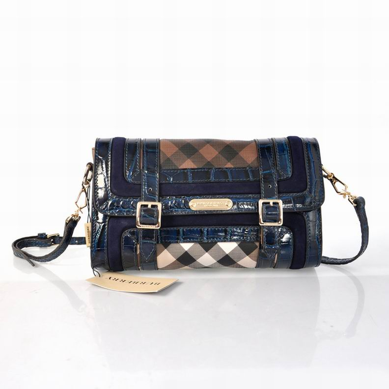Burberry Outlet Crossbody Bag Blue Model001