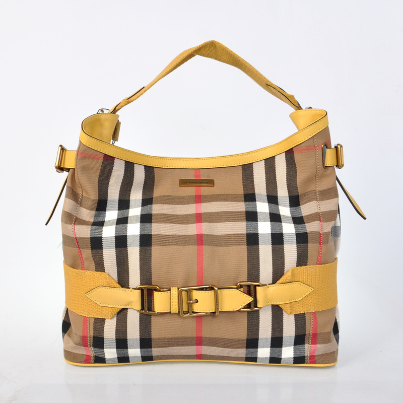 Burberry Outlet Hobo Bag Yellow Model004