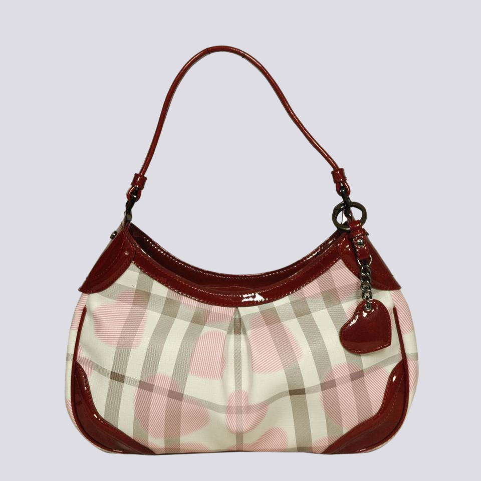 Burberry Outlet Hobo Bag Red Model012