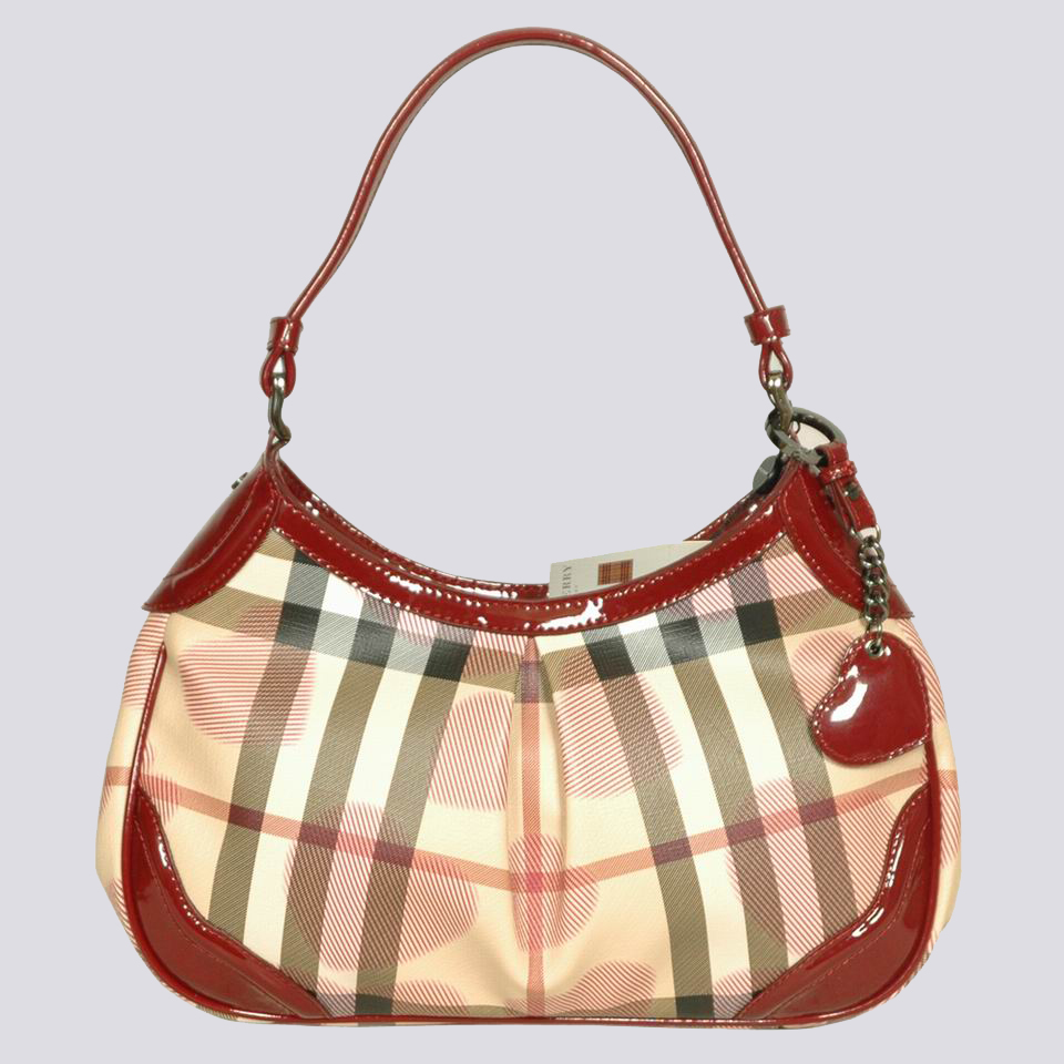 Burberry Outlet Hobo Bag Wine Red Model012