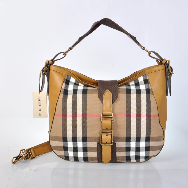 Burberry Outlet Medium Shoulder Bag Khaki Model003