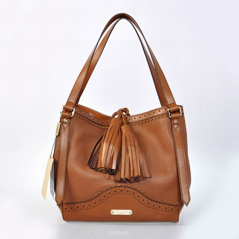 Burberry Outlet Medium Tote Bag Coffee Model088