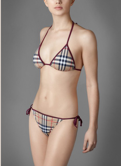 Burberry Outlet Classic Womens Triangle Bikini Model005