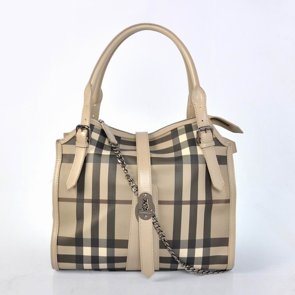 Burberry Outlet Tote Bag Gray Model031