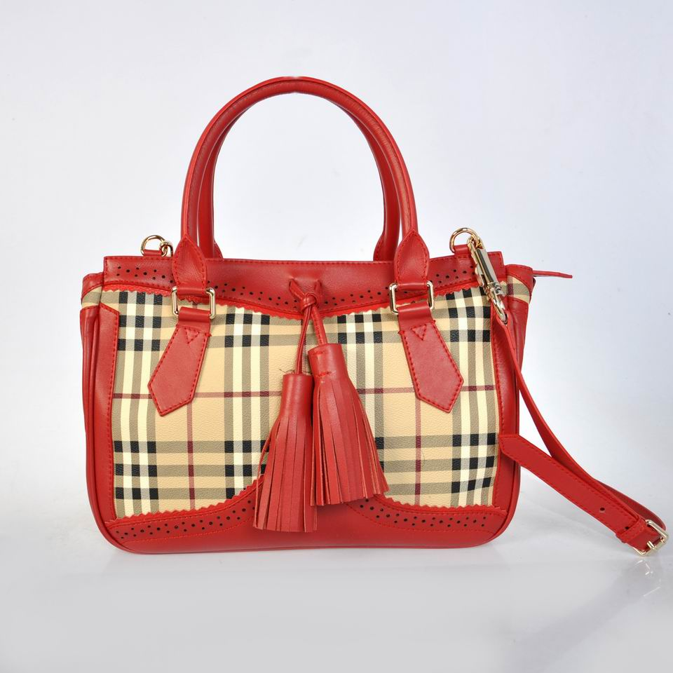 Burberry Outlet Tote Bag Red Model020