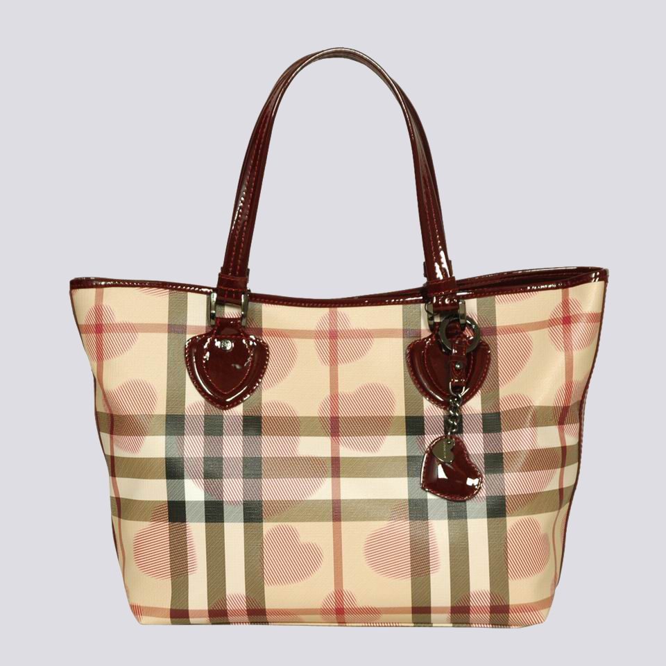 Burberry Outlet Tote Bag Red Model063