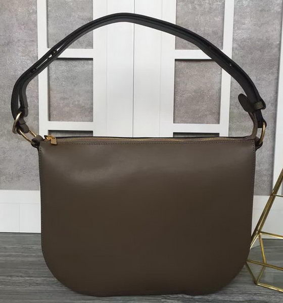 CELINE Medium Saddle Bag in Original Leather C28835 Khaki