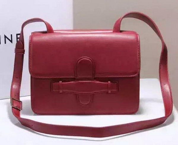 CELINE Symmetrical Bag in Original Leather C774423 Burgundy