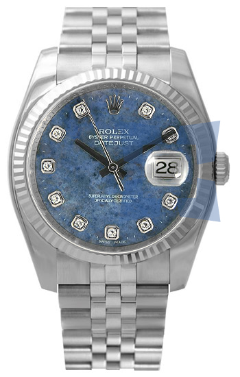 Rolex Datejust Series Mens Automatic 18k White Gold Wristwatch 116234WGDSod