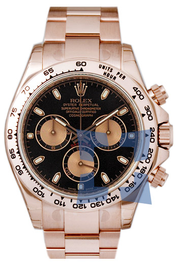 Rolex Daytona 18k Everose Gold Automatic Mens Wristwatch 116505CS