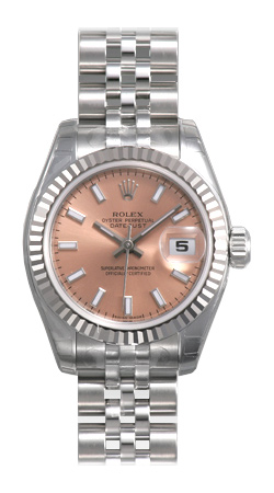 Rolex Lady Datejust Series Ladies 18kt White Gold Automatic Wristwatch 179174-PSJ