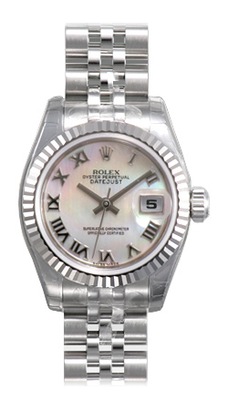 Rolex Lady Datejust Series Ladies 18kt White Gold Automatic Wristwatch 179174-MRJ