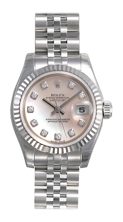 Rolex Lady Datejust Series Ladies 18kt White Gold Automatic Wristwatch 179174-MDJ