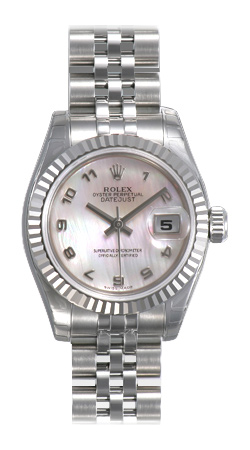 Rolex Lady Datejust Series Ladies 18kt White Gold Automatic Wristwatch 179174-MAJ