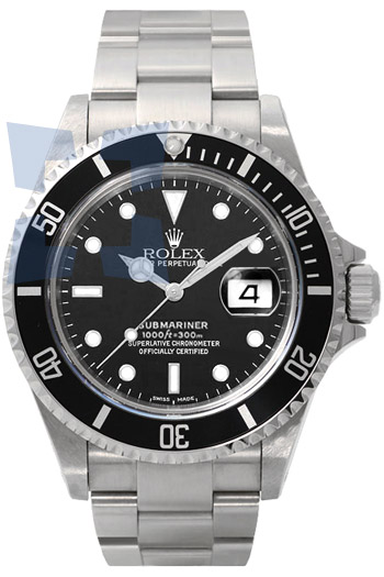 Rolex Submariner Date Series Mens Automatic Wristwatch 16610