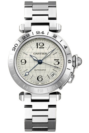 Cartier Pasha Fashionable Stainless Steel Mens Automatic Wristwatch-W31078M7
