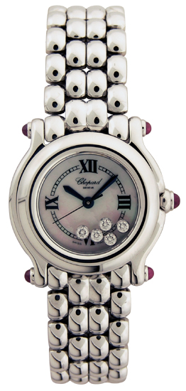 Chopard Happy Sport Series Diamond Mother-of-pearl Steel Style Ladies Quartz Watch 278250-21