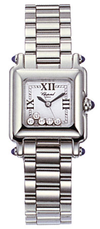 Chopard Happy Sport Series Diamond Steel Mini Ladies Swiss Quartz Wristwatch 278893-23