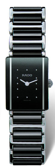 Rado Integral Series Scratch Resistant Ceramic Quartz Ladies Watch R20488162 in Black