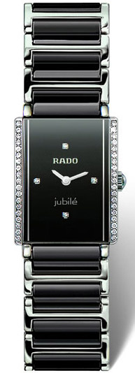 Rado Integral Series Black Ceramic Quartz Ladies Watch R20430712