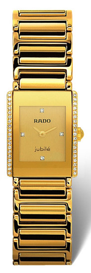 Rado Integral Series Midsize Quartz Unisex Watch R20338742 in Gold