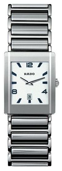 Rado Integral Series Midsize Platinum-tone Ceramic Quartz Mens Watch R20484112