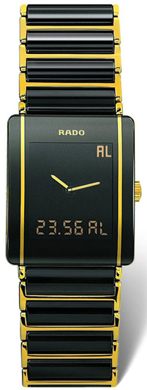 Rado Integral Series Scratch Resistant Black Ceramic Mens Watch R20456152