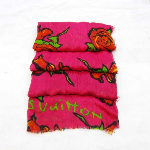 Louis Vuitton Fashion Designer Rose Scarf & Shawl Cheap